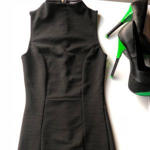 Fashion Nova Black Bodycon Dress XS